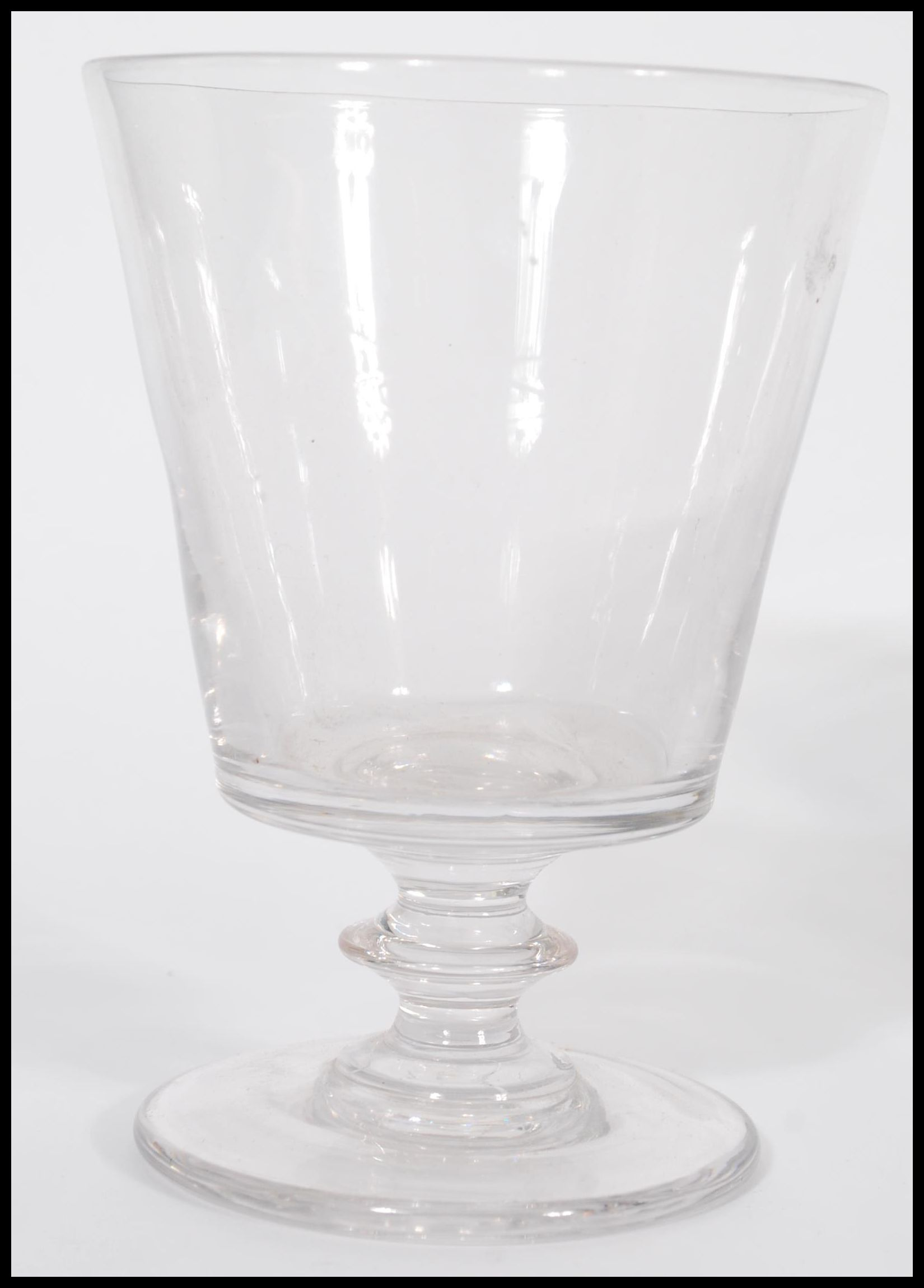 Lot 13 - A group of 19th century glassware to include a cylindrical decanter with faceted glass ball stopper,