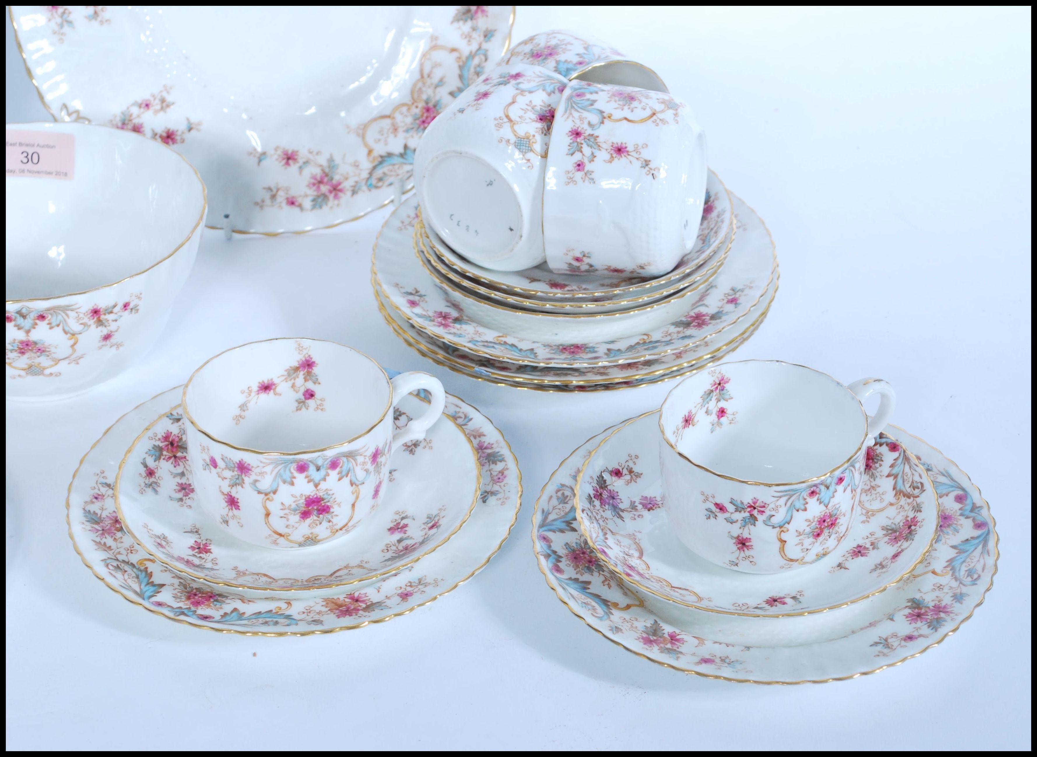 Lot 30 - A 19th century Victorian William Alsager Adderley & Co ' Spray ' Pattern china tea service