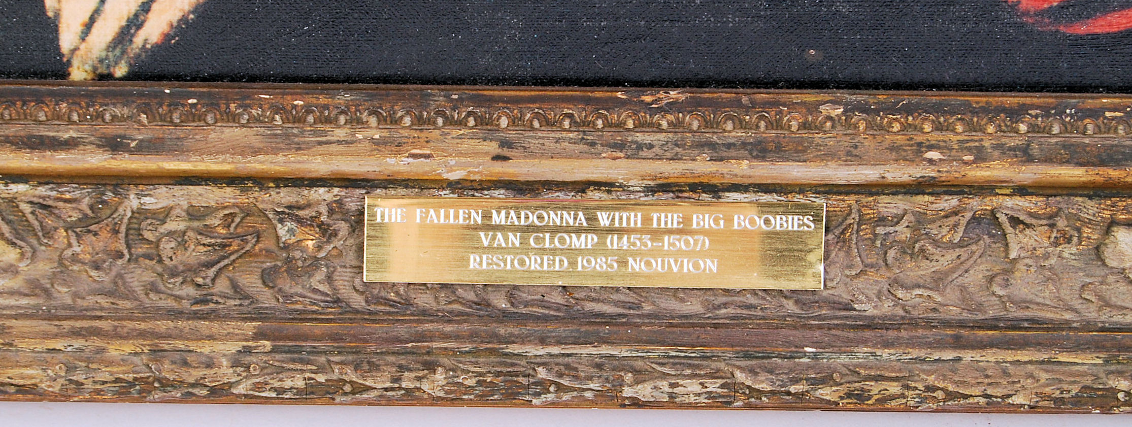 Lot 303 - ORIGINAL 'FALLEN MADONNA WITH THE BIG BOOBIES' FROM 'ALLO 'ALLO
