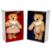 STEIFF Teddy Baby Maid und Teddy Baby Bub Nr. 407512/407529, 1993, Replik v. 1930, limit. Aufl.