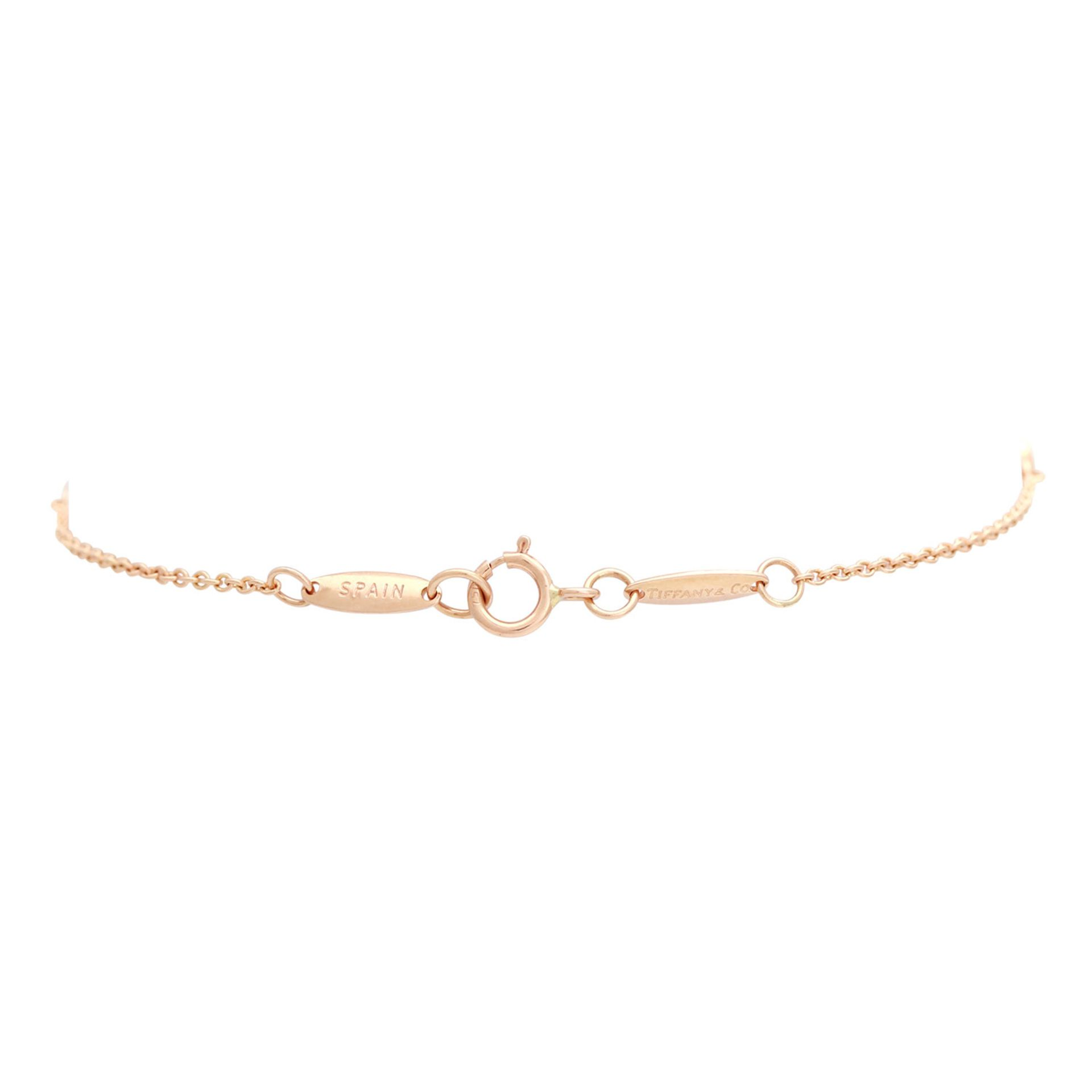 "Los 37 - TIFFANY & CO zartes Armband ""Diamonds by the Yard"" mit 3 Brillanten zus. ca. 0,09 ct FW / VVSI in RG"