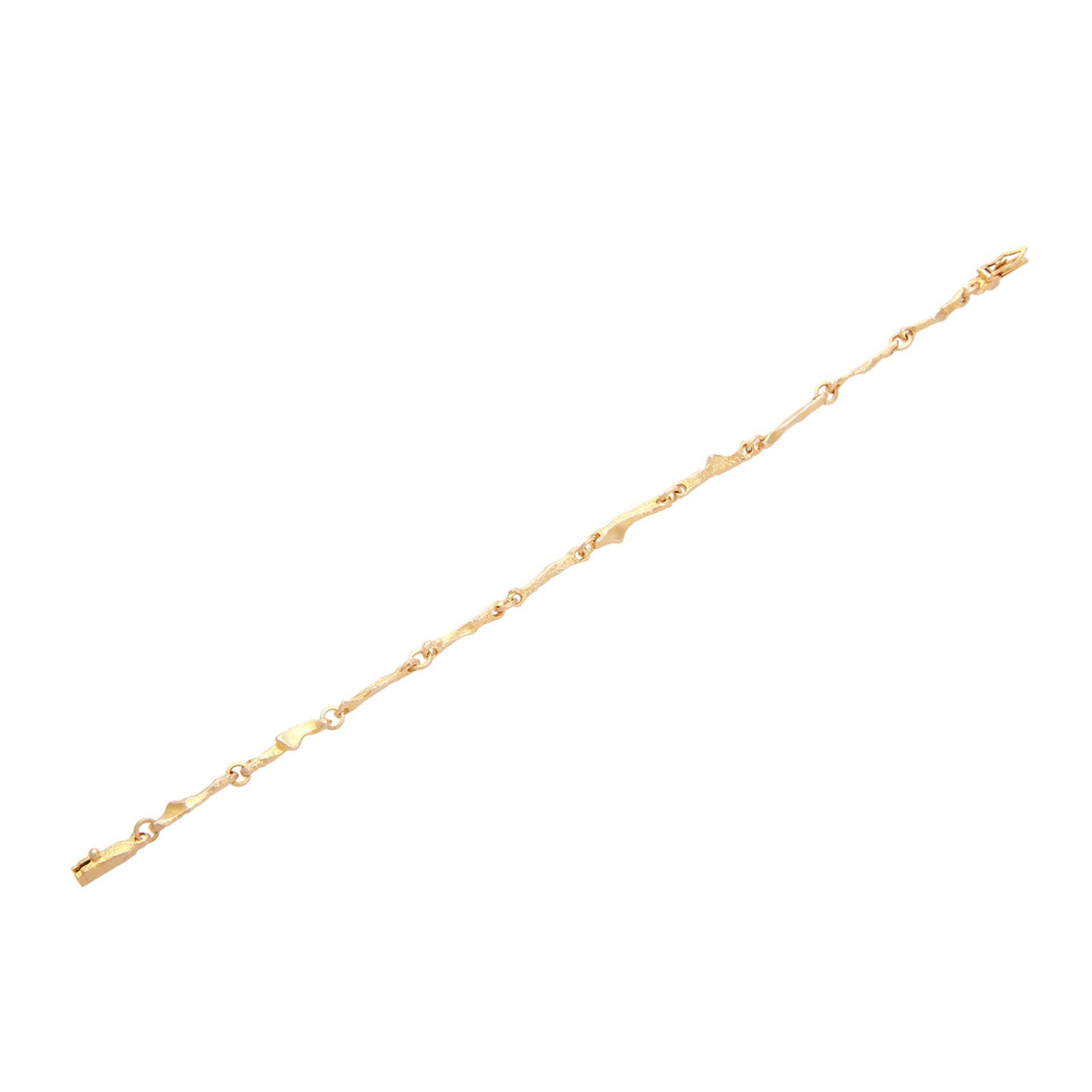 Los 143 - LAPPONIA Set Kette mit Armband, Nr. D8, GG 14K, L: 42,5 cm und 18,5 cm.
