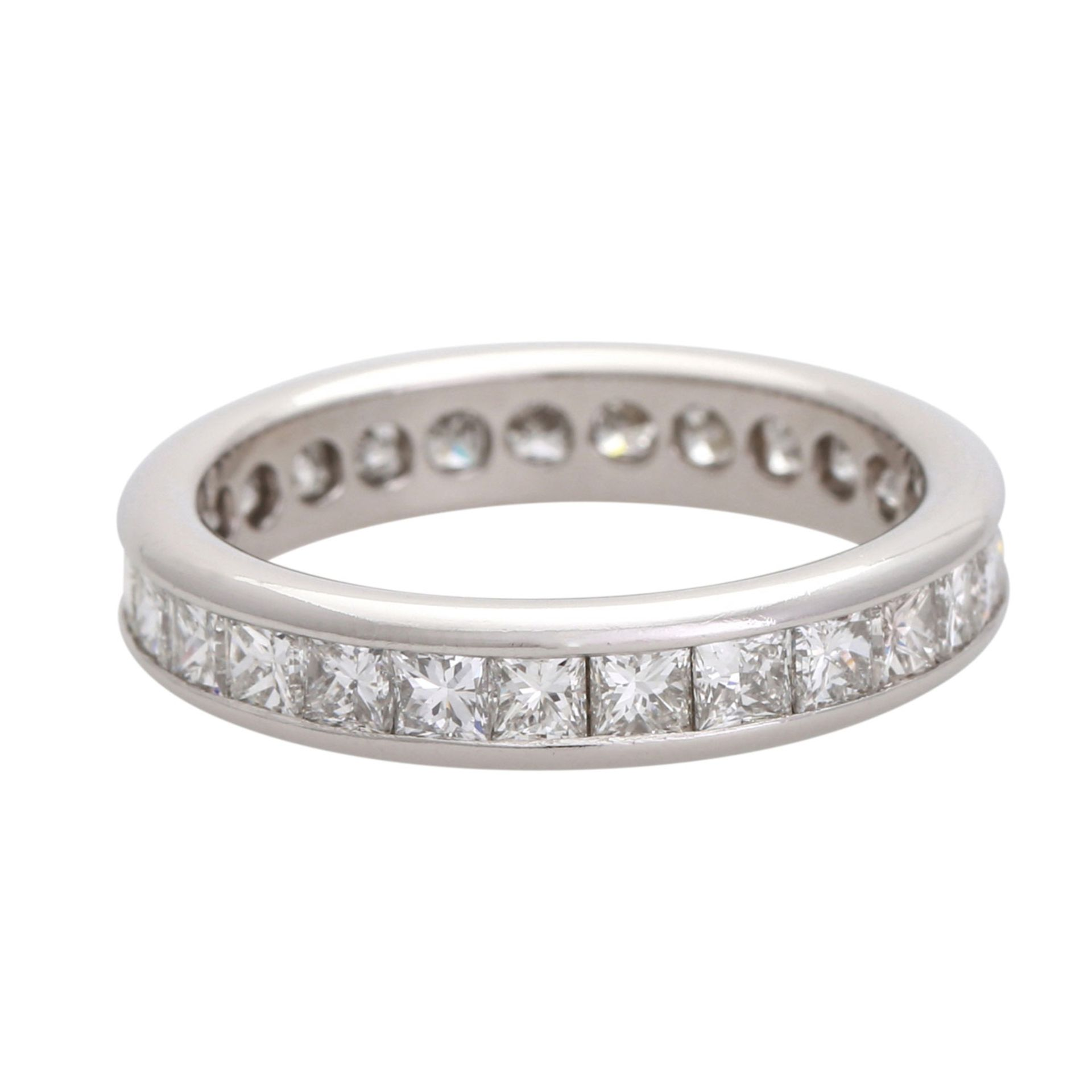 Los 25 - Memoire Ring mit Princess Cut Diamanten. Platin, CHRISTIAN BAUER, Dia. zus. 2,82 ct, TW (G) - SI