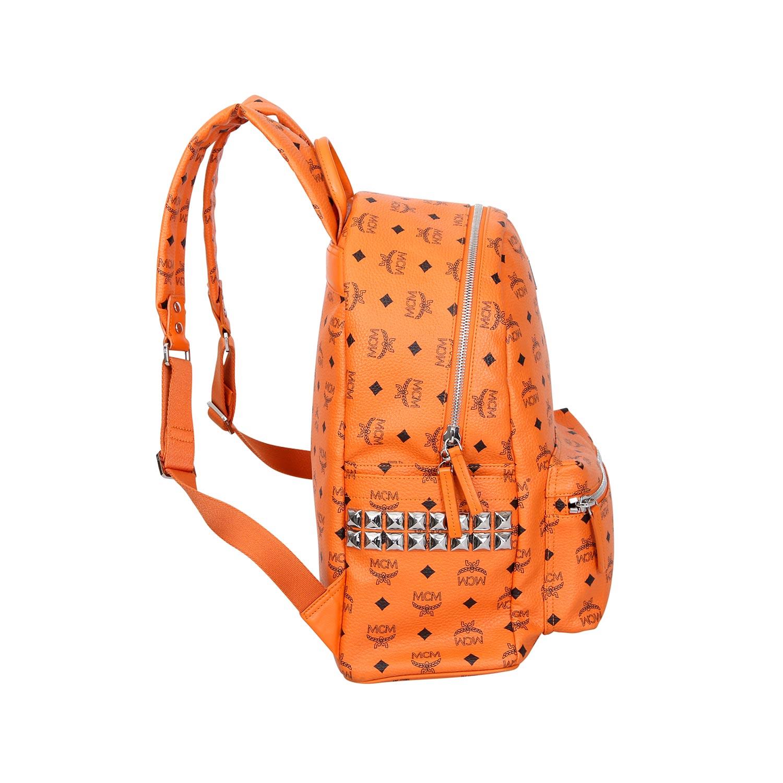 """Lot 17 - MCM Rucksack """"STARK MEDIUM"""".NP. ca.: 700,-€. Zeitlose Form in Orange mit Visetos-Design. Umlaufender"""
