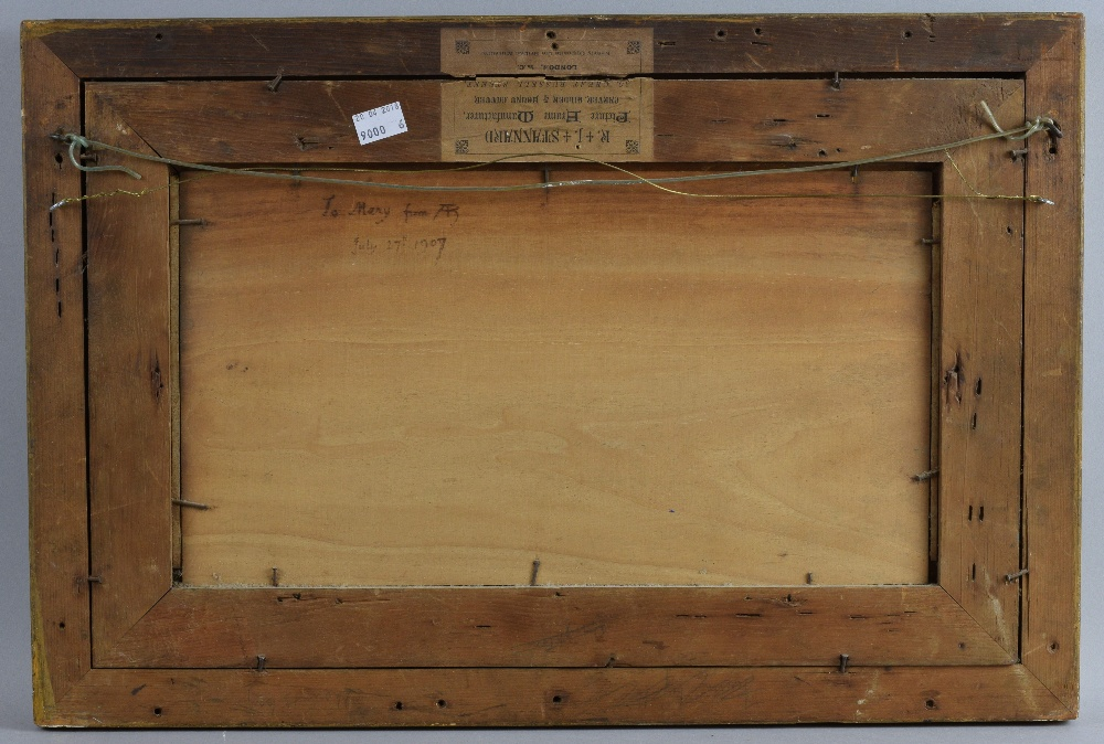 Arthur Hughes (1832-1915), Cornish seascape, oil on canvas signed, 21cm x 40cm.See Arthur Hughes, - Image 6 of 8