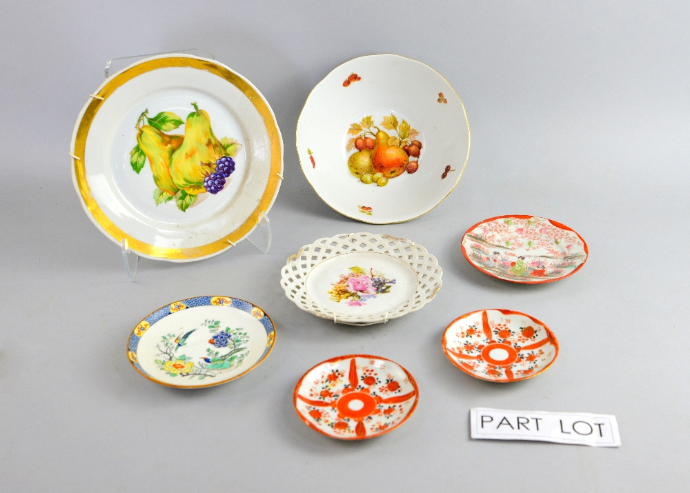 & Collection of decorative ceramics to include ribbon plates.