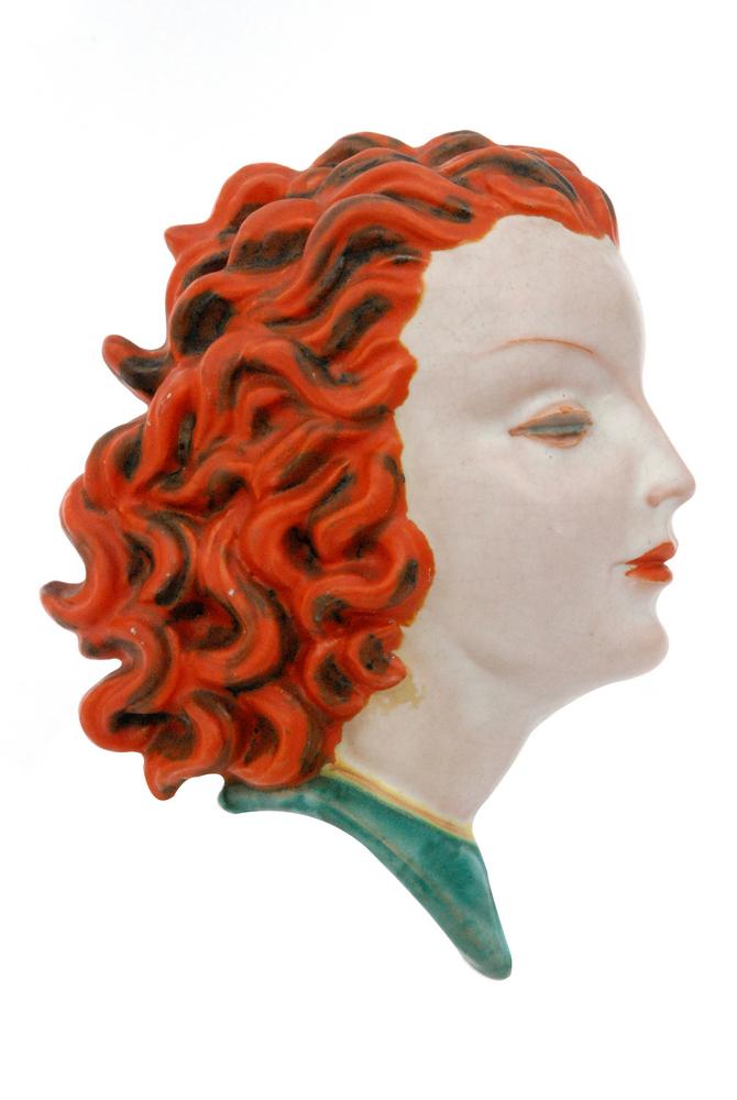Lot 2 - A 1930s Goldschieder (Austria) Art Deco wall mask, shape 7496,