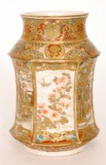 Lot 9 - A late 19th Century Japanese Satsuma vase,