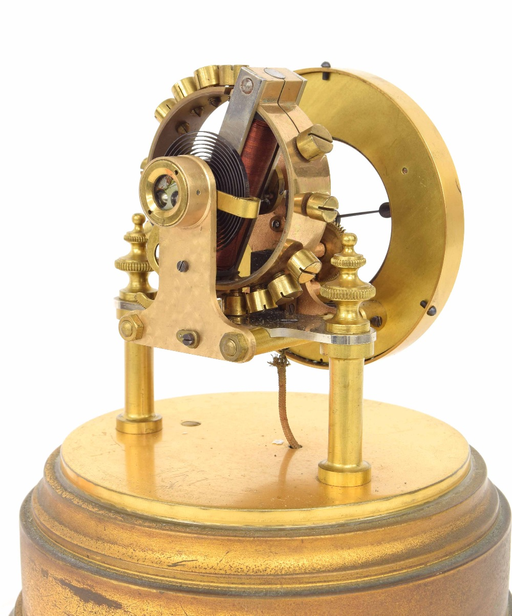 """Lot 1123 - Good Eureka electric mantel clock, the 4.25"""" cream chapter ring enclosing a skeletonised centre"""