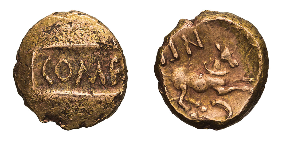 Lot 7 - Celtic, Britain, Atrebates. Tincommius. Gold Quarter Stater.