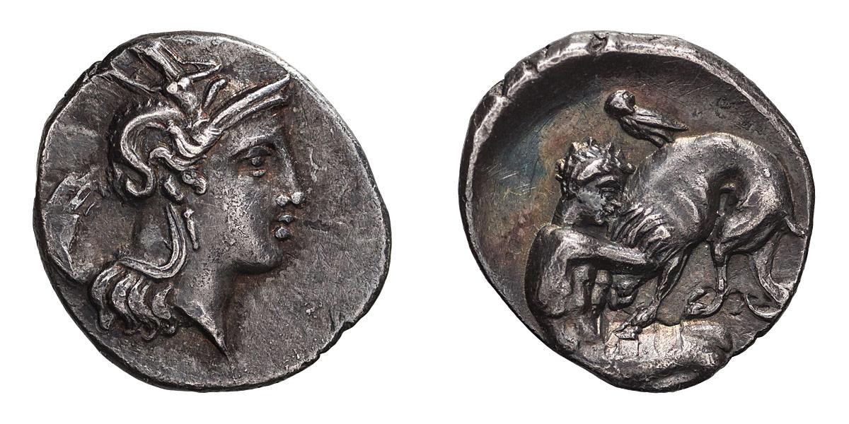 Lot 44 - Calabria. Tarentum. Diobol.