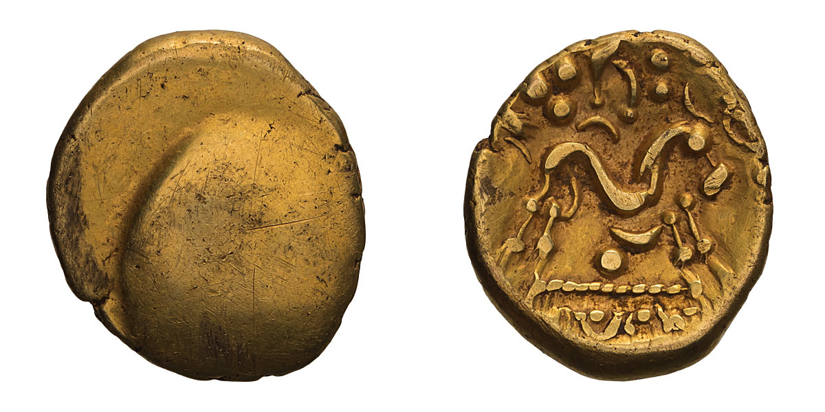Lot 3 - Celtic, Gaul, Northeast. Ambiani. Gold Stater.