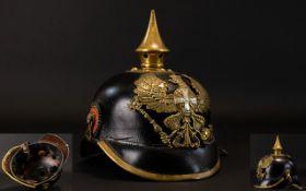 Imperial German 1895 Model Picklehaube Worn by Foot Troops - Reserve and Landwehr Regiments,