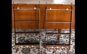 Mahogany Pair Of Wall Hanging Shelves Each with four selves and single drawer to base with swag and