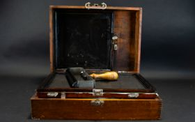 Reprographics Interest - Early Duplicating Portable System Housed In Oak Case.