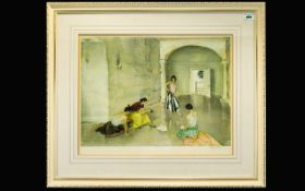 William Russell Flint 1880 - 1969 Pencil Signed by The Artist Ltd Edition Colour Lithograph
