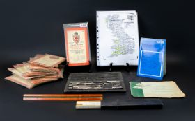 A Collection Of Early - Mid 20th Century Ordnance Survey Maps Twenty three in total.