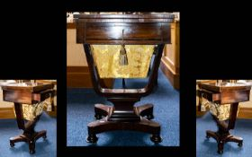 A Late 19th/early 20th Century Sewing Table.