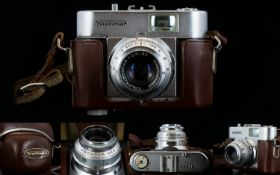Photography Interest Voigtlander Viewfinder Vito B 50mm Camera Circa 1954 Collectors camera in