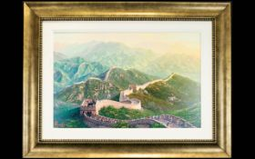 Alexander Chen (Chinese b.1952) Limited Edition Giclee Print On Canvas ''Beijing 2008 Summer