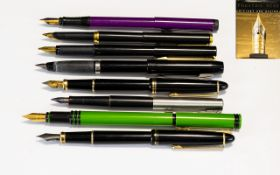 Collection of Fountain Pens Mostly Parker and Watermans ( 9 ) Nine Pens In Total + a Book of The