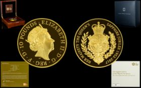 Royal Mint The Sapphire Jubilee of Her Majesty The Queen 2017 United Kingdom Five - Ounce Gold