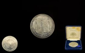 Silver Medallion 'The Tower Mint. Exclusive Edition Stonehenge, Solid Nickel Silver.