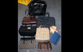 A Large Collection of Assorted Bags to include shoulder, clutch and beaded items.