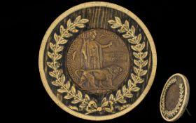 World War I Bronze Death Plaque - Awarded to Ernest Leo Winder,