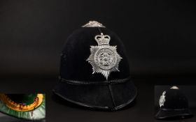 Lancashire Constabulary Police Helmet. Date 1940's / 1950's.