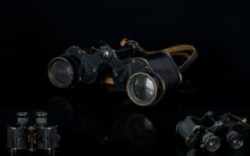Ross Stereo Prism Power 6 X 30 Field Binoculars by Ross of London. Serial Number 81571 - NP8, with