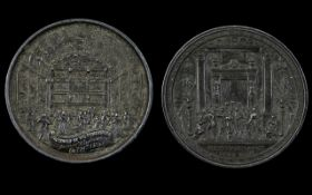 Commemorative Bronzed Led Presentation Medal for the opening of The Holborn Restaurant 1874, the