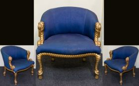 French Style Rope Twist Tub Chair Napoleon III Style occasional chair,