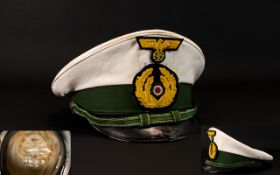 German - World War II Copy - Officers Navy Visor Cap. Please See Photo.