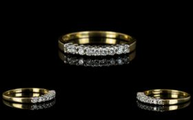 Ladies - 9ct Gold Channel Set Diamond Ring,