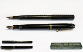 L. E. Waterman & Co New York / Montreal Watermans Ideal Fountain Pen. Features Self Filling, Hard