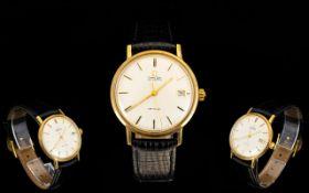 Omega 18ct Gold Seamaster Deville Automatic Gentleman's Wrist Watch. Fully hallmarked circa 1965.