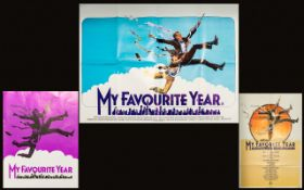Cinema Interest - Peter O'Toole Original 1982 Large Sheet Poster (Quad) 'My Favourite Year' Along
