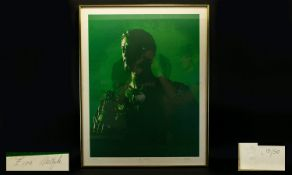 Limited Edition Artist Signed Silk Screen Print Titled 'To Anthony' Framed and mounted under glass,