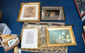 A Collection of Assorted Framed Prints a