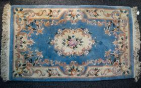 A Large Woven Silk Carpet Keshan carpet