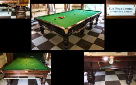Riley Full Size Snooker Table. Mahogany