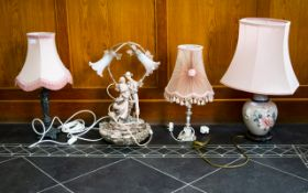 Collection Of Four Modern Table Lamps. T