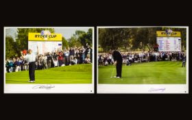 Golfing Interest Two Autographed Limited