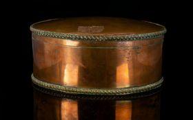 Early Regency Copper Box. Inside Silver