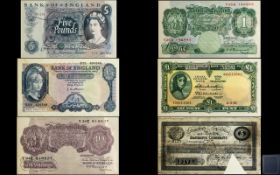 Album Containing the Bank of England One Pound and Five Pound Note - Historic Collection ( 19 )