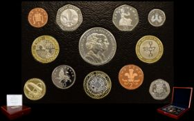 Royal Mint 2007 United Kingdom Executive Proof Coin Collection ( 12 ) Coins In Total.