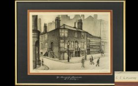 Laurence Stephen Lowry 1887 - 1976 Pencil Signed by The Artist Ltd and Numbered Edition Lithograph