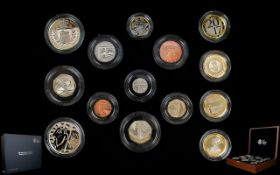 The Royal Mint 2017 United Kingdom Ltd and Numbered Edition Premium Proof Coin Set ( 14 ) Proof