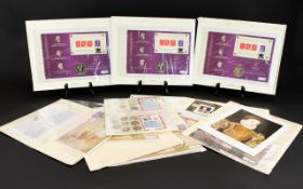 A Good Collection of Commemorative Coin Covers and Coin Sets.